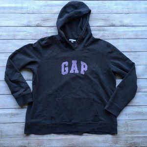 Tops - Gap Gray Hooded Logo Sweatshirt
